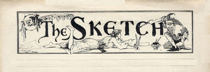 1894 THE SKETCH Magazine KATE CUTLER Fred Hall NEWLYN Academie Delecluse (0600)